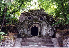 A Roman in a Monsters Park. Ferragosto. Bomarzo.