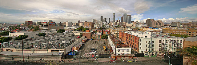 Downtown from Skid Row