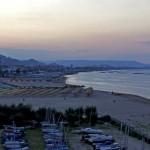 Pescara. The beach, the city, the sunset.